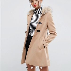 ASOS trench/wool tan coat brand new